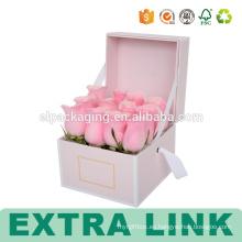 Caja de papel de empaquetado de la impresión al por mayor completa con la ventana para las flores