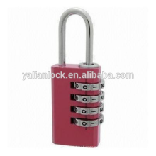 20 milímetros Short Shackle Red Combination Lock