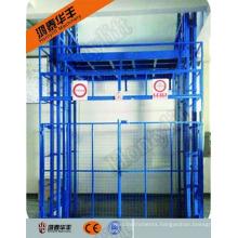 wall mounted vertical auto hydraulic cargo elevator aerial work platform lift