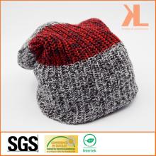 100% акриловая смешанная полосатая полосатая трикотажная шляпа
