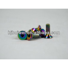dazzle color titanium countersunk head bolt for car
