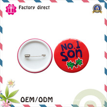 Christmas Gift Guangdong Pin Tin Button Badge for Kids