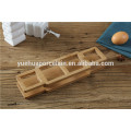 Bamboo Kitchen Ceramic Cruet Set with Bamboo Rack
