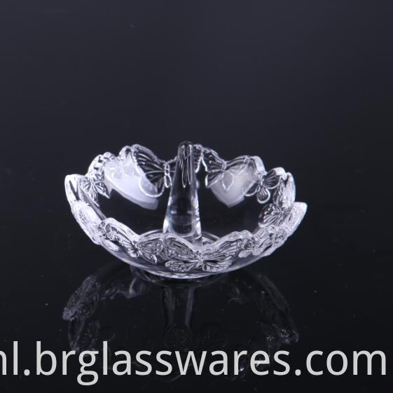 crystal glass ring holders