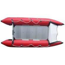 Barco inflável de cone de fibra de vidro, barco rápido em PVC