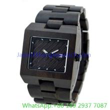 Fashion Square Holz Uhr und Holzband für Mann (Ja-150110)