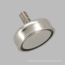 out Thread Pem Nut Round Base Magnet Neodymium Pot Magnet