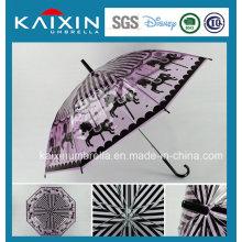 Alta calidad Straigh transparente paraguas de lluvia