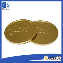 Golden Round Tinplate Sheet Insert