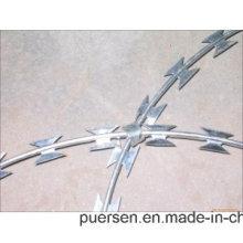 Factory Razor Blade Barbed Wirehot Dipped Galvanized Razor Wire