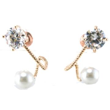 Nuevo diseño para la joyería de plata del pendiente 925 de la perla de la mujer (E6536)