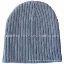 Popular estirable estilo de punto 100% acrílico caliente gorrita (TMK0273-1)