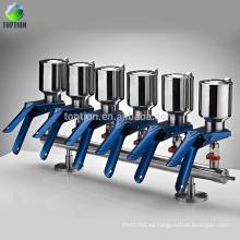 Aparato de filtro de vacío de membrana de filtración de solvente de laboratorio de 6 ramificaciones
