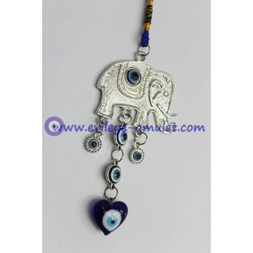 Evil Eye Amulet Lucky Elephant Amulet or Car Hanging Decoration Ornament