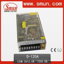 Fuente de alimentación de conmutación de salida doble 120W 5V 12V (D-120A 5V12V)