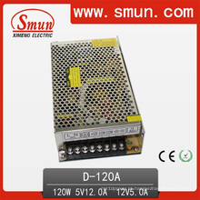 Fonte de alimentação de comutação de saída dupla 120V 5V 12V (D-120A 5V12V)