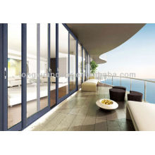Balcón mediterráneo Puerta corredera de aluminio de gran tamaño, impermeable, libre de óxido y puertas de resistencia a la corrosión