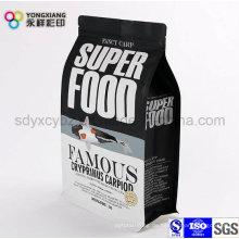 Flat Bottom Tierfutter Plastikverpackungsbeutel mit Ziplock