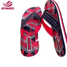 Men Flip Flops Summer Beach Slippers EVA Stripe Outside Massage Slipper Male Soft Shoes