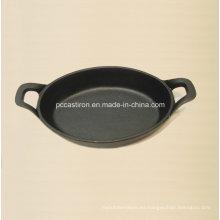 Preseasoned hierro fundido mini Servering tamaño de la cacerola 22x15cm