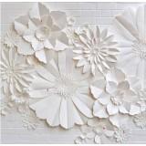 Decoration artificial marigold flower wallpaper white wall (WPAM-09)
