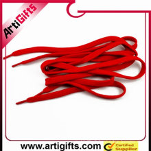 Lacets de chaussures ruban rouge tressé polyester