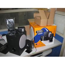 Baratos y nuevos altavoces de madera 2.1, caja creativa del sonido del altavoz de la computadora
