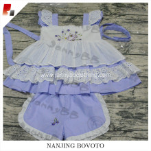 Wholesale kids lavender embroidered dress