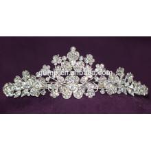 Descuento de diseño con Encanto Corona de cristal nupcial brillante Tiara de encargo de la boda