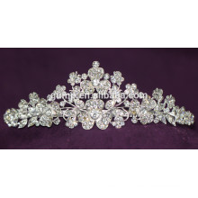 Design de charme Discount Shiny Crystal Bridal Crown Custom Wedding Tiara