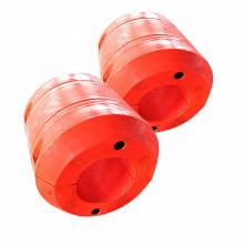 Deers Polyethylene dredging marine pipe floats used in pipeline