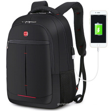 large capacity leisure nylon waterproof anti-theft USB charger travel smart laptop backpack bag with usb port