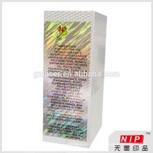 2015 Hologramm Kosmetik Verpackung Box mit benutzerdefinierten Logo und Muster