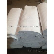100% tela de algodón blanco para ropa de cama