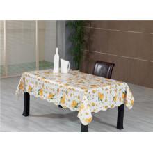 Material de PVC de toalha de mesa padrão impresso com Backing e Oilproof, descartável, pano de tabela de recurso impermeável
