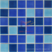 Light and Dark Blue Mixed Ceramic Pool Tile (CST127)