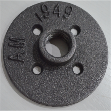 1 Inch Malleable Threaded Floor Flange Iron Pipe Fittings Mounted Flange