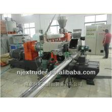 WPC / máquina de extrusão de grânulos de plástico de madeira de dois estágios