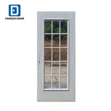 Porte de jardin porte en verre en acier Fangda