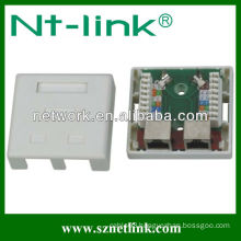 2 Port Cat5e STP RJ45 Surface Jack