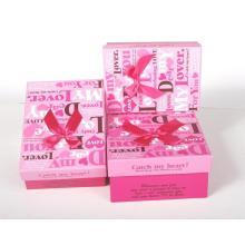 Boîte cadeau en papier imprimé avec papillon ruban