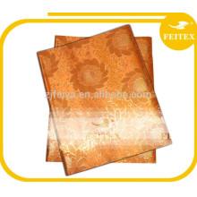 Sego Headtie African Fabric Wrapper Orange Gold Color Party Boda FEITEX Gele & Ipele