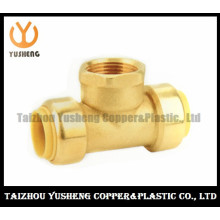 Female Brass Lead Free Quick-Connect Tee Fittings (YS3010)