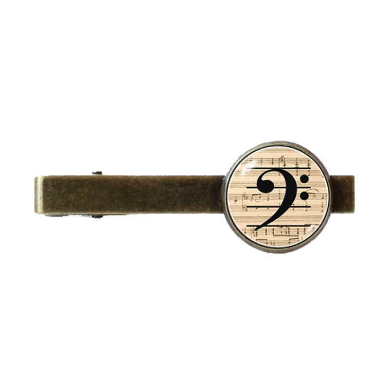 Bass Clef Tie Clip Perfect For Music Lover Gift