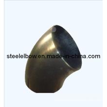 Kohlenstoff-Stahl 45 Grad Bogen