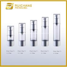 Botella de aluminio de cosméticos bomba Airless