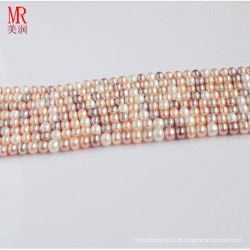 10-11mm Multi Farbe Süßwasser Perle Strand, Button Runde