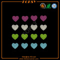 Colorful Heart motif wholesale rhinestone heat transfers