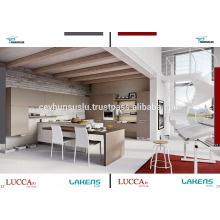 Ökonomischer heißer Verkaufs-Küche-Kabinett mit flacher weicher Noten-Pvc-Tür und Insel