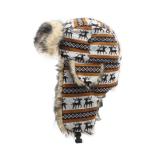 Warm Printing Earflaps Fur cap winter hat